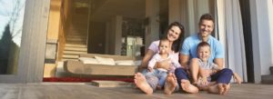 Header - Personal Insurance Family in Front of House